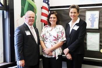 Senator Uecker with Supt. Monroe and LCDD Board President Carla Salyer