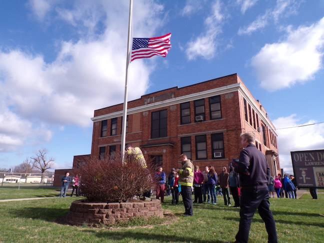 Ironton Fire Department raises the flag