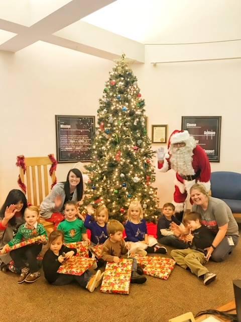 Santa with students