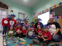 Children participate in Dr. Seuss Day